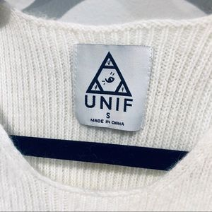UNIF Tops - UNIF white fuzzy crop top Small